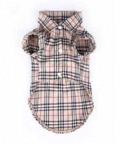 roupa de cachorro camisa com estampa burberry