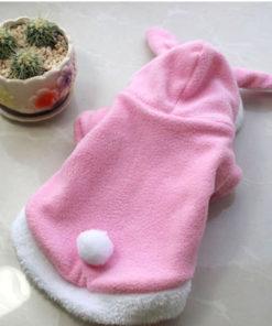 roupinha de coelho rosa para cachorro