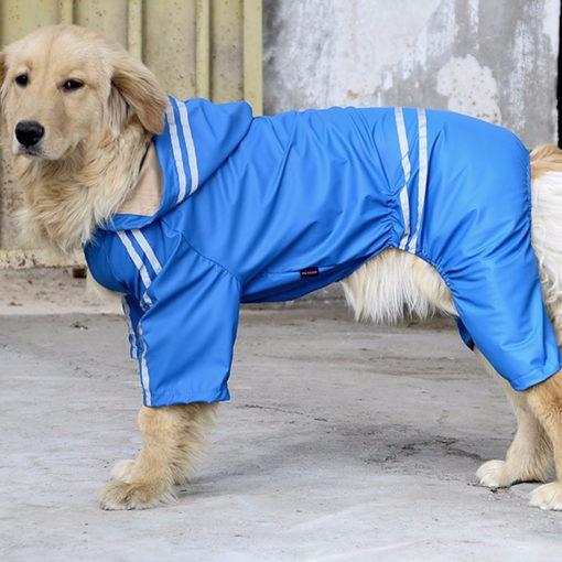 capa de chuva cachorros grandes azul