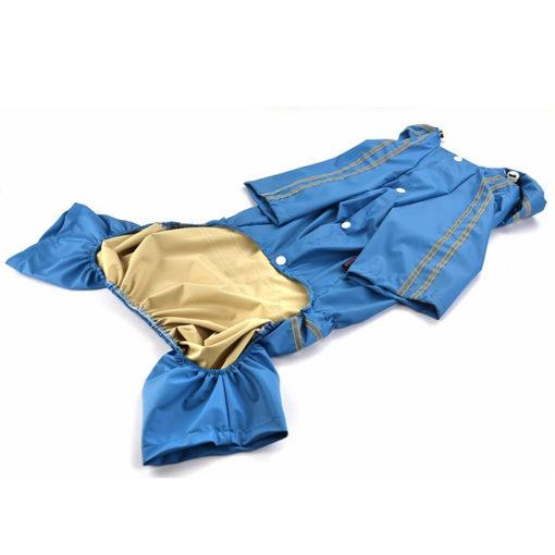 capa de chuva para cachorro azul