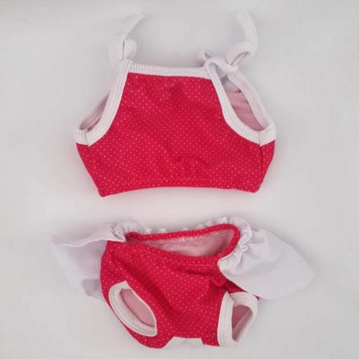 biquini rosa de bolinhas para cachorro