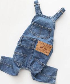 macacão jeans para cachorro