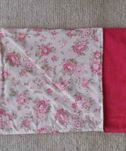 cobertor floral pink para cachorro