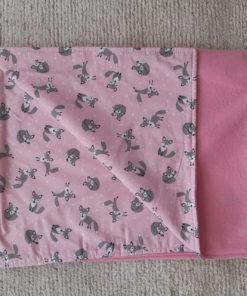 cobertor raposinhas rosa para cachorro