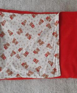 cobertor ursinhos vermelho para cachorro
