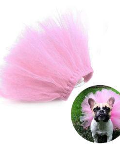 saia de tutu rosa para cachorro