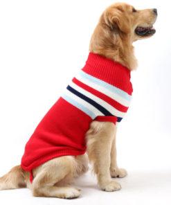 suéter de lã vermelho para cachorro