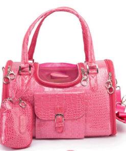 bolsa para cachorro passear pink