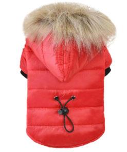 jaqueta de inverno vermelha para cães