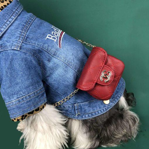bolsa chanel vermelha para cachorro