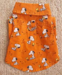 camisa para cachorro do snoopy laranja