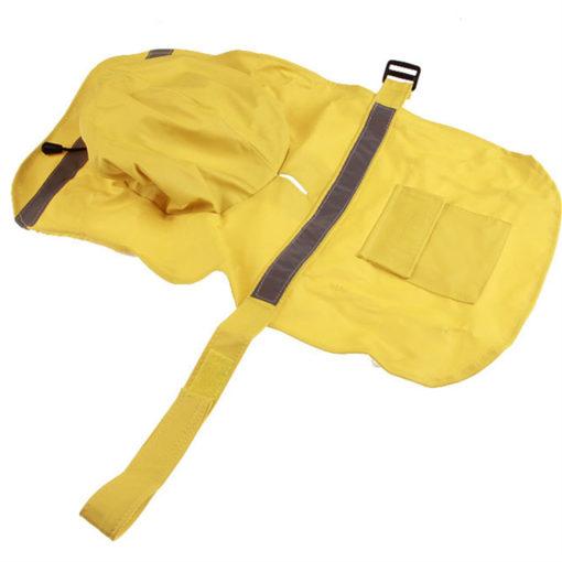capa de chuva amarela para cachorro impermeável