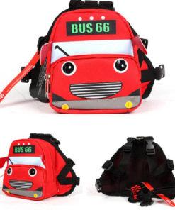 mochila para cachorro onibus vermelho