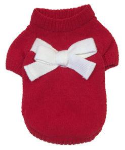 pullover vermelho de çã para cães