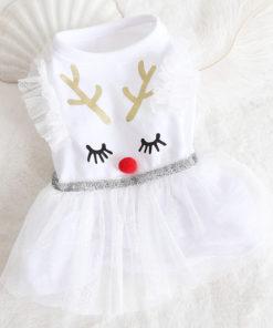 Vestido Rena de Natal para cachorro