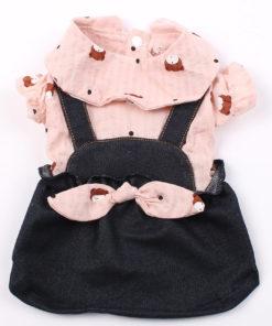 vestido ursinhos com suspensório para cachorro