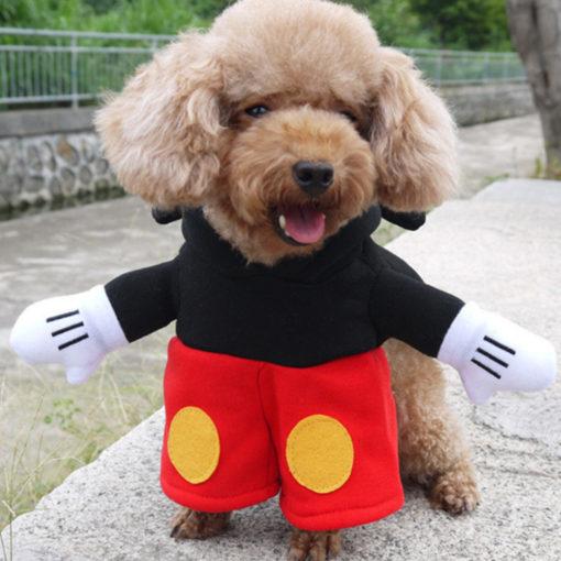 fantasia do mickey com bracinhos para cachorro