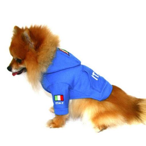 moletom azul italy para cachorro