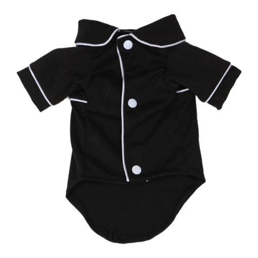 pijama preto e branco para cachorro com botões