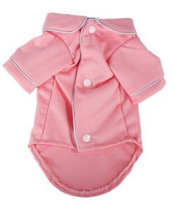 pijama rosa para cachorro com botões