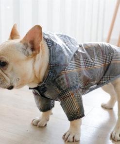 capa de chuva xadrez para cachorro