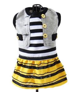 vestido abelha para cachorro