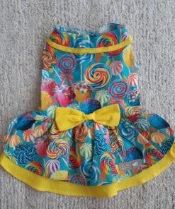 vestido pirulitos coloridos para cachorro