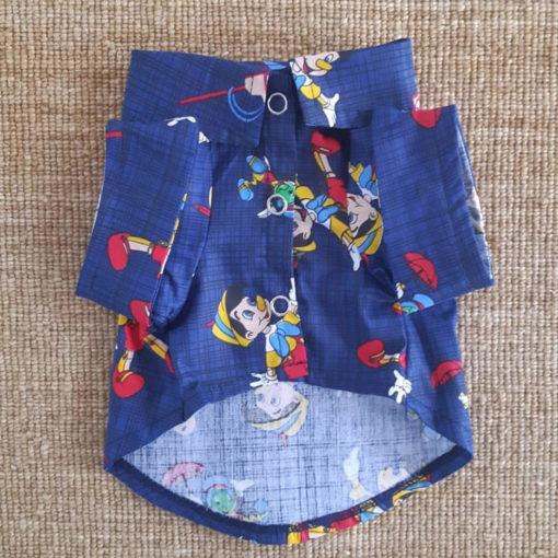 camisa para cachorro do pinoquio