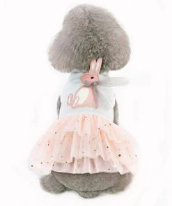 vestido coelho para cachorro