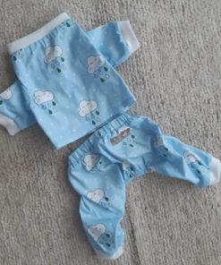 conjunto para cachorro pijama azul