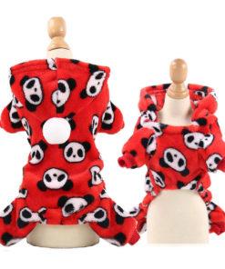 macacão de soft para cachorro pandas
