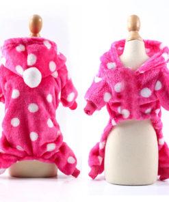 macacão de soft para cachorro pink