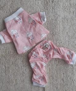 conjunto para cachorro pijama rosa