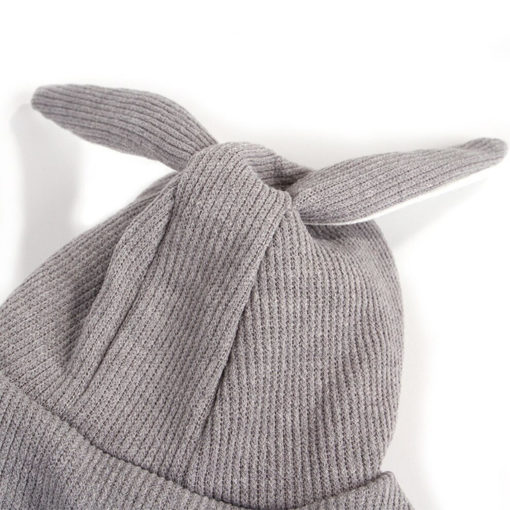 roupa de tricô coelho cinza para cachorro