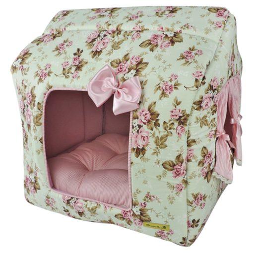 cama casinha florida para cachorro