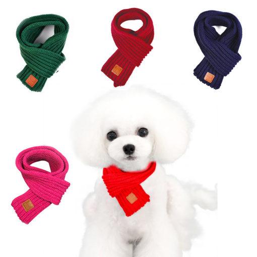 cachecol de lã para cachorro