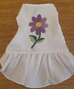 vestido branco com flor