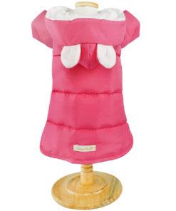 jaqueta pink para cachorro impermeável