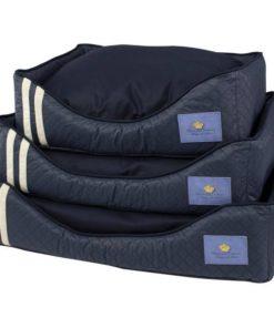 cama azul marinho para cachorro