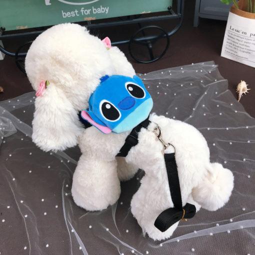 mochila lilo e stitch para cachorro
