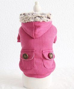 jaqueta rosa inverno para cachorro