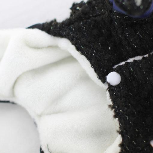 macacão de tweed invernal para cachorro
