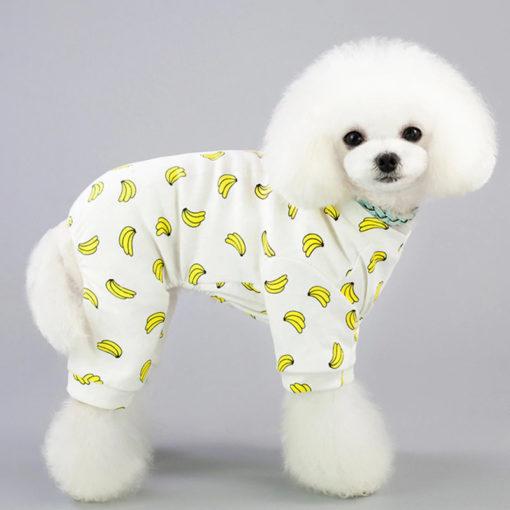 pijama estampa bananas para cachorro